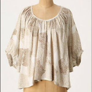 Anthropologie Maeve Couers Heart Batwing Top